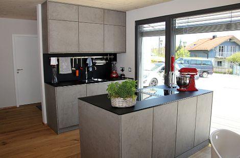 Küche mit Betonoptik