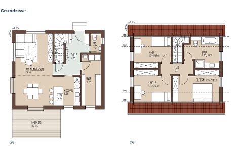Der durchdachte Grundriss bietet großzügiges Raumgefühl bei optimierter Flächennutzung.