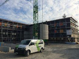 Neues Büro- und Wohngebäude in Hybridbauweise