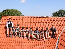 Die nächste Generation: Mittagspause auf dem Dach!