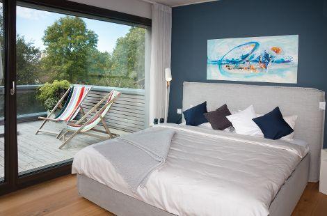 Schlafzimmer EG Musterhaus 2inEins Auhausen