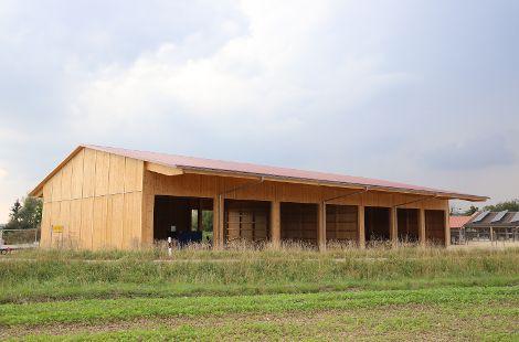 Lagerhalle aus Käferholz