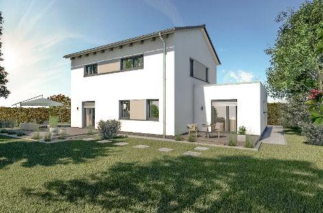 Das attraktive Wohngebäude fügt sich optisch in fast jedes Neubau- oder Bestandsgebiet ein