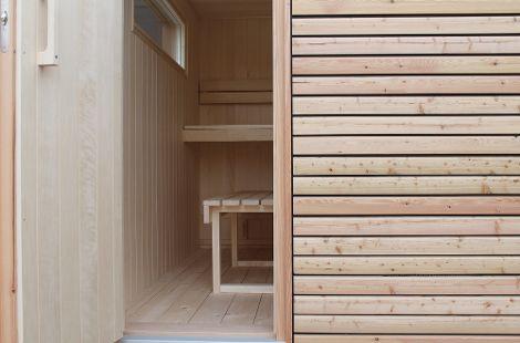 Für die Innenverkleidung stehen mehrere Holzarten zur Wahl.