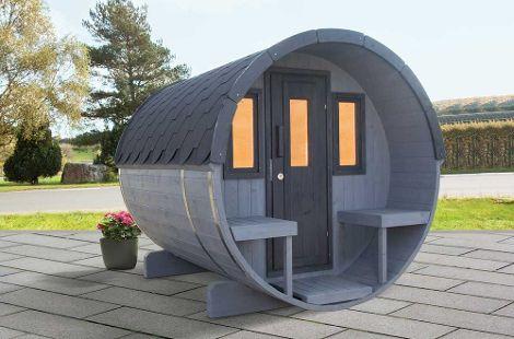 Romantisches Saunavergnügen in der freien Natur.